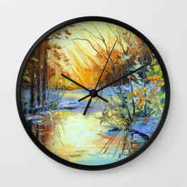 Autumn coolness Wall Clock