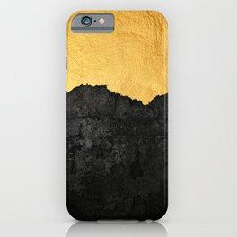 Black Grunge & Gold texture iPhone Case