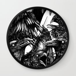The Riot : Crows Wall Clock