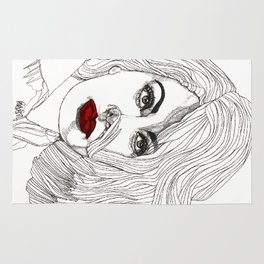 Sophia with Red Lips Rug