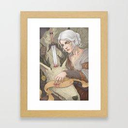 Cirilla and the Vicar Framed Art Print