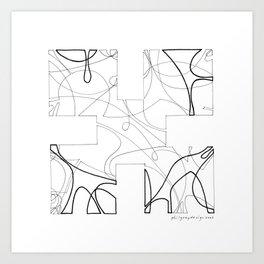 animorph 01 - the beginning  Art Print