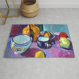 Henri Matisse Dishes and Fruit Rug
