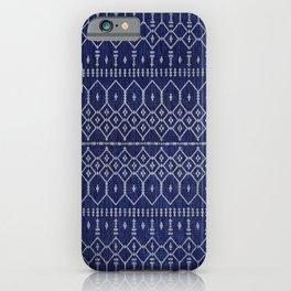 Blue Indigo Traditional Oriental Moroccan Design iPhone Case