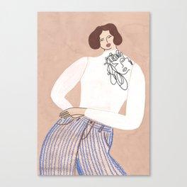 Mr. Larkin Pippa Turtleneck Canvas Print