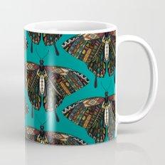 swallowtail butterfly teal Mug
