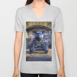 Cannon Edinburgh Castle Unisex V-Neck