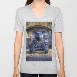Cannon Edinburgh Castle Unisex V-Neck