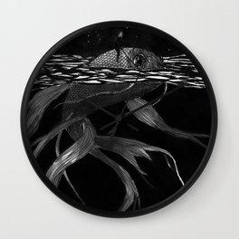 Riding a fish Wall Clock