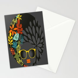 Afro Diva : Sophisticated Lady Gray Stationery Cards