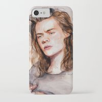 coconutwishes iPhone & iPod Cases featuring Harry watercolors III by Coconut Wishes