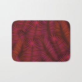 Exotic tropical palm leaves pattern Bath Mat
