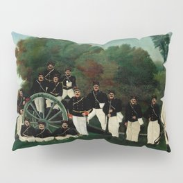 "Henri Rousseau ""The Artillerymen"", 1893 Pillow Sham"