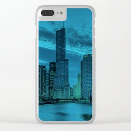 Chicago Blues 2 Clear iPhone Case