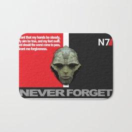 NEVER FORGET - Thane Krios - Mass Effect Bath Mat