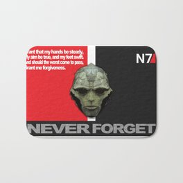 NEVER FORGET - Thane Krios - Mass Effect Bath Mat
