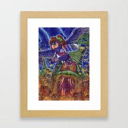 Kid Icarus Pit vs Medusa NES Nintendo Framed Art Print