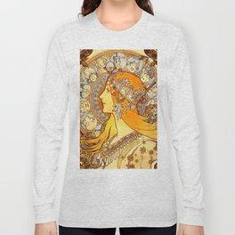 "Alphonse Mucha ""Zodiac"" Long Sleeve T-shirt"