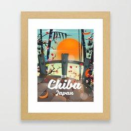 Chiba Japan travel poster Framed Art Print
