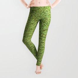 Phlegm Green Shag Pile Carpet Leggings