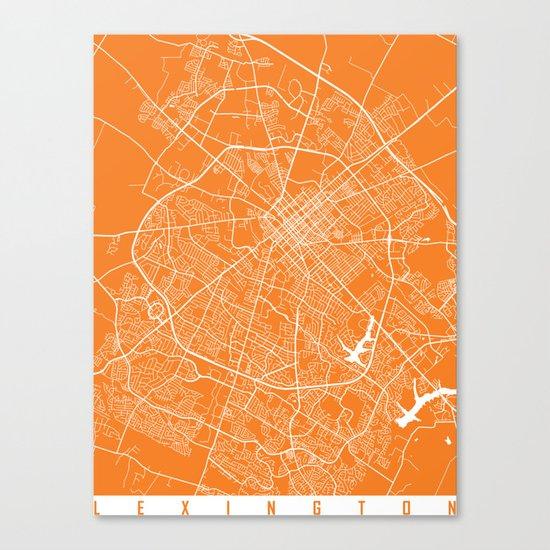 Lexington map orange Canvas Print