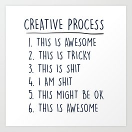 Creative Process Art Print