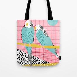 Hottie - throwback retro 1980s 80s style memphis dots bird art neon cool hipster college dorm art Tote Bag