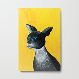Tuxido Cat Metal Print