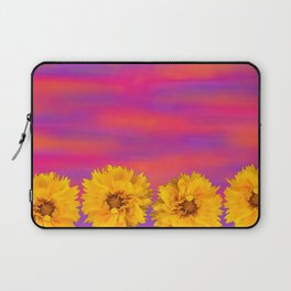 Yellow Floral Sunset Laptop Sleeve