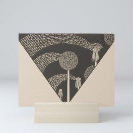 Art Nouveau Dandelion Seeds Mini Art Print