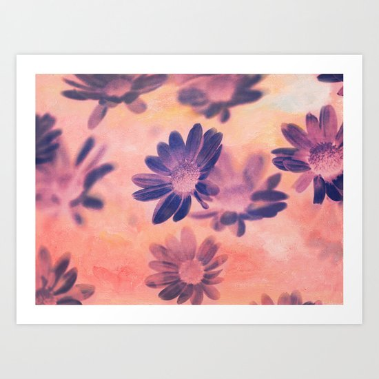 Daisies on Canvas Art Print