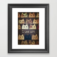 cat-cats Framed Art Print