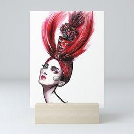Feather hat Mini Art Print