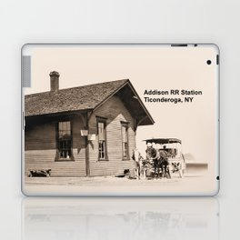 Addison Railroad Station, Ticonderoga Laptop & iPad Skin