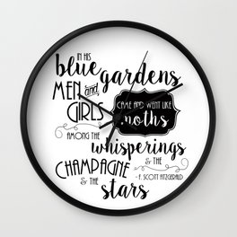 The Champagne & The Stars Wall Clock