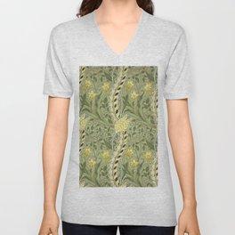 """William Morris """"Daffodil"""" Unisex V-Neck"""