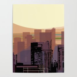 Phoenix Skyline Downtown Poster