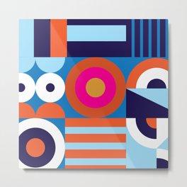 Modernist Pattern Metal Print