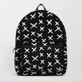 X Pattern - Original White on Black Backpack