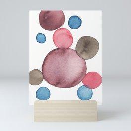 Color Sphere Circle Watercolor Mini Art Print