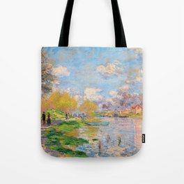 12,000pixel-500dpi - Claude Monet - Spring by the Seine - Digital Remastered Edition Tote Bag