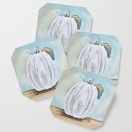 Tall white pumpkin Coaster