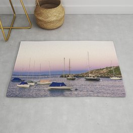 Earth's shadow over the harbor Rug