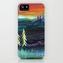 Behind the trees iPhone Case