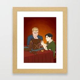 Shingeki No Christmas - Eruri Framed Art Print