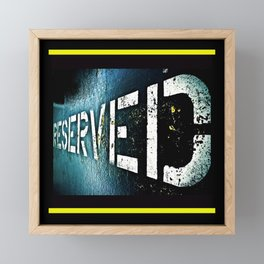 Reserved Framed Mini Art Print