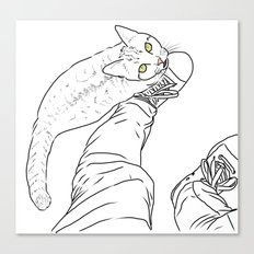 Everything I know I learned from my cat Canvas Print