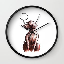 Talking Dogs Wall Clock
