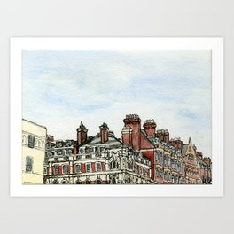 London Rooftops Art Print