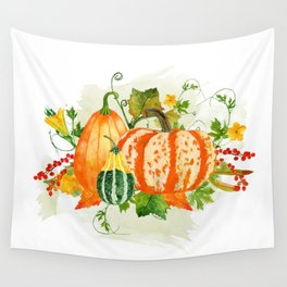 Pumpkin Bouquet Wall Tapestry